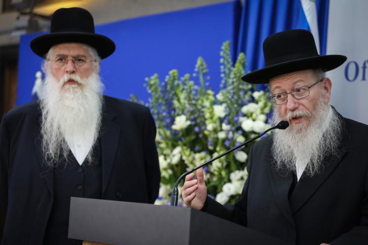 יעקב ליצמן ומאיר פרוש. מריבה שהשפיעה על כל המפלגה (צילום: הדס פרוש, פלאש 90)