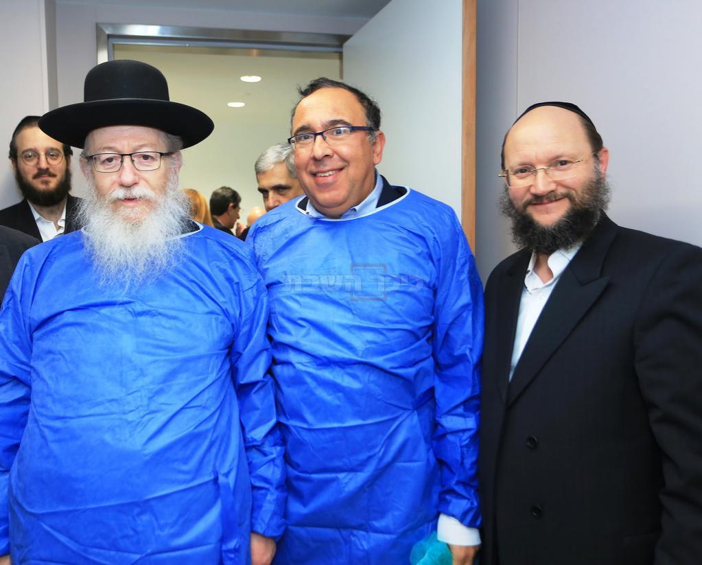 בסיור הכנה עם שר הבריאות יעקב ליצמן