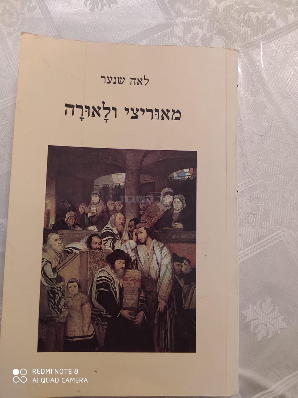 הספר שנכתב על הציור ''יהודים מתפללים ביום כיפור בבית כנסת'' ( באדיבות יראת לוי (קלי))