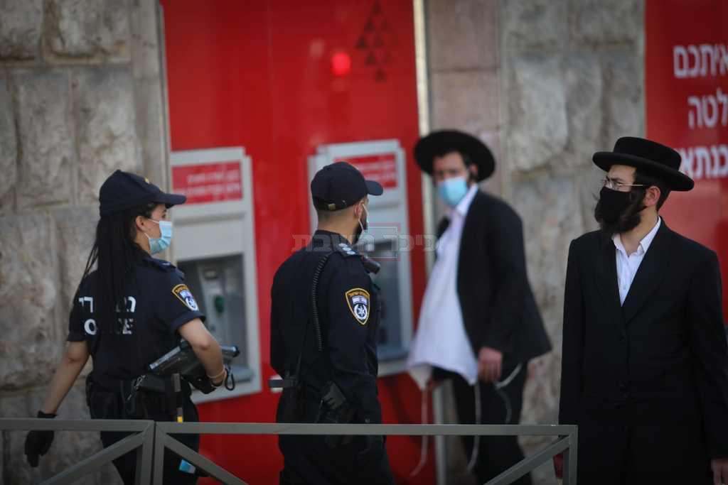 שוטרים מול חרדים, השבוע (צילום: חיים גולדברג, כיכר השבת)