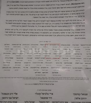 מתוך מכתב הרבנים (צילום: באדיבות המצלם, ללא קרדיט)