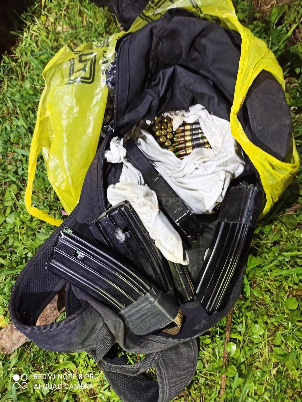 התחמושת שנתפסה אצל החשודים (צילום: דוברות המשטרה)