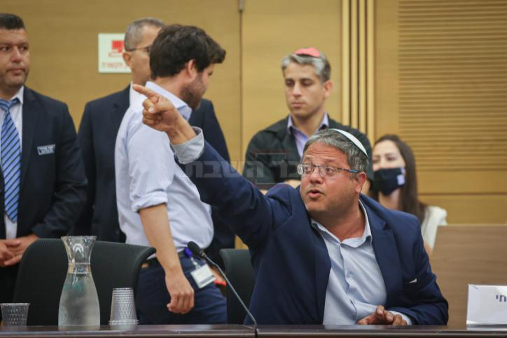 בן גביר בדיון (Yonatan Sindel/FLASH90)