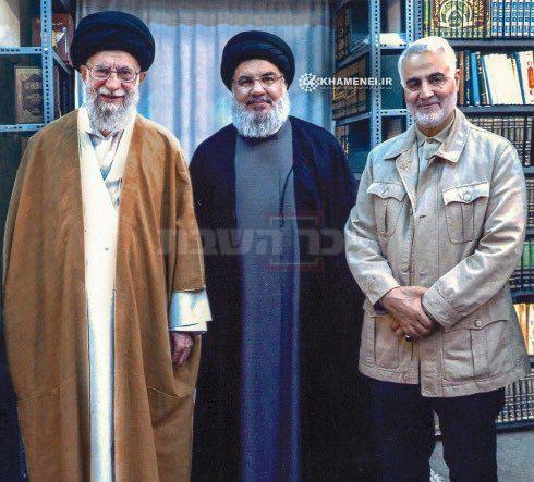 סולימאני, לצד נסראללה ונשיא איראן