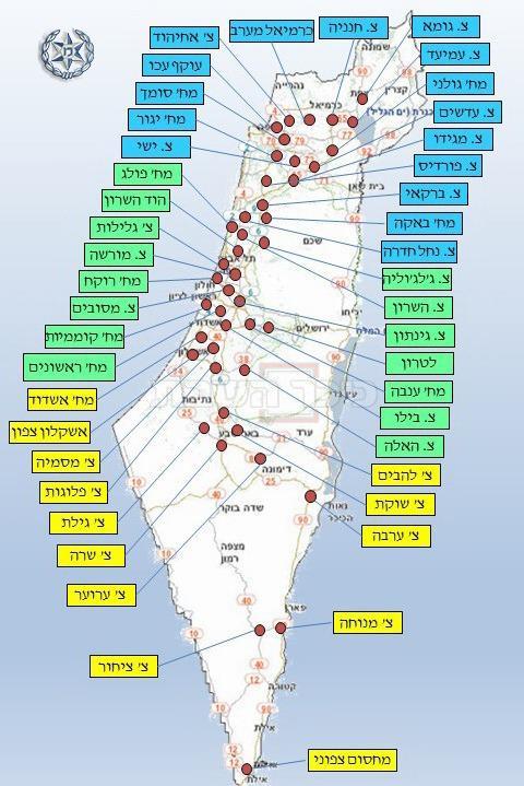 מפת החסימות של המשטרה