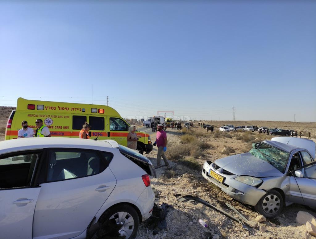 זירת התאונה הקטלנית בכביש 40 (ללא קרדיט)