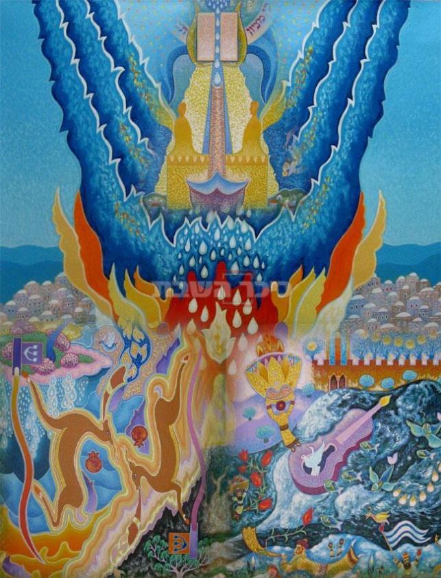 אחד מציוריו הייחודיים (ארכיון 'כיכר השבת')