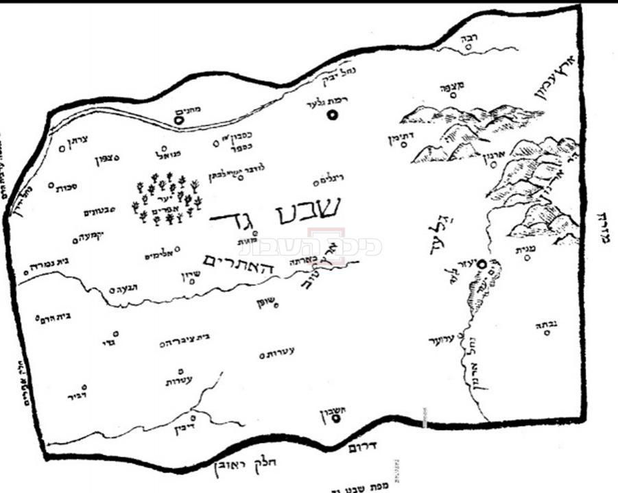 מפות נחלות השבטים שצייר הגה''ק רבי שלמה רפופרט מחלמא, בעל מחבר 'מרכבת המשנה' על הרמב''ם, בספרו 'חוג הארץ' (באדיבות אוצר החכמה)