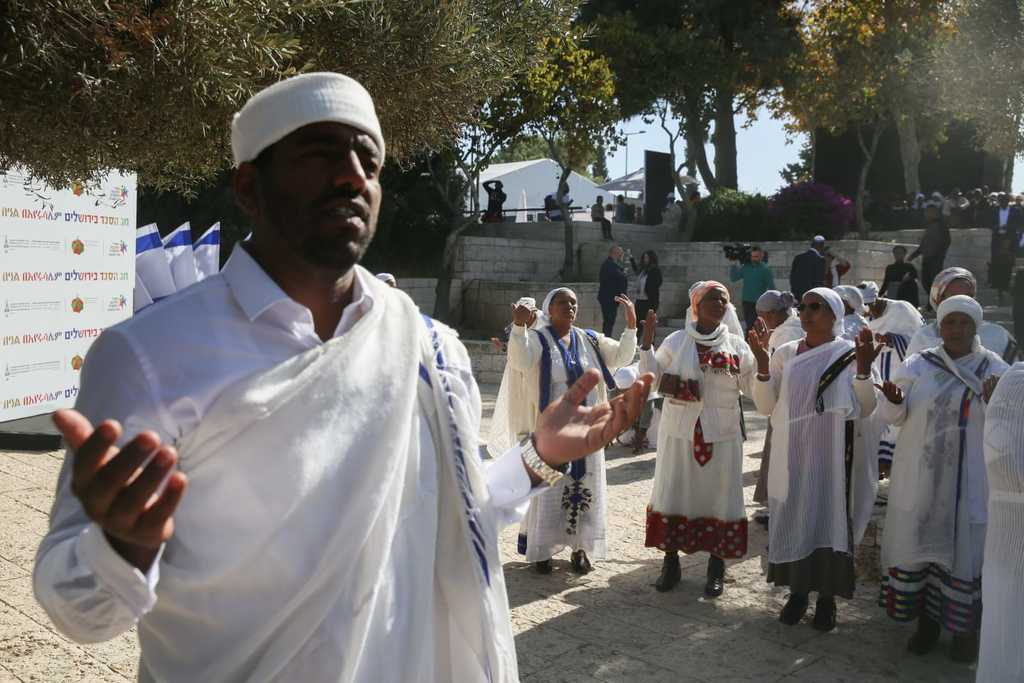 חג הסיגד בקהילת ביתא ישראל (צילום: חיים גולדברג, כיכר השבת)