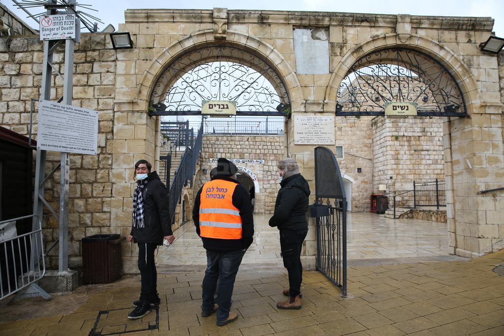 הכניסה לציון הרשב''י (צילום: דוד כהן, פלאש 90)