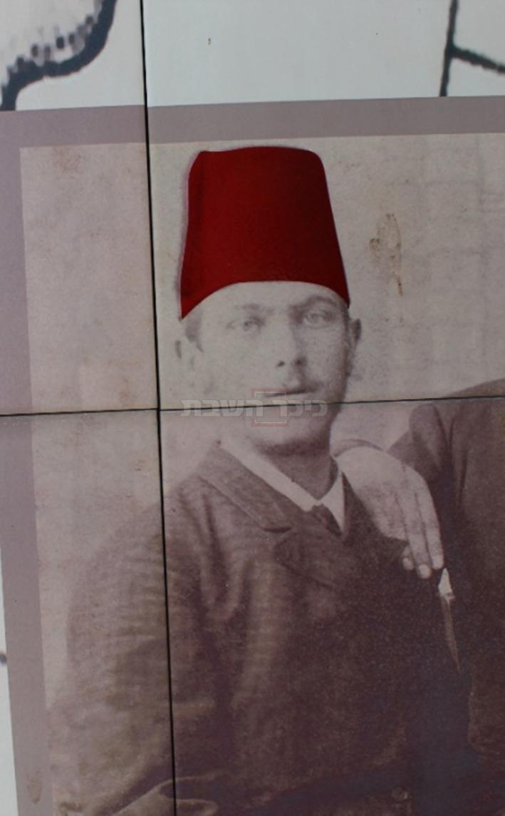 הגרמ''מ אפשטיין עם התרבוש האדום (צילום: ישראל שפירא)