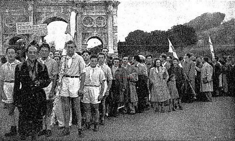מצעד יהודי רומא לכבוד הכרזת מדינת ישראל (צילום: מתוך ויקיפדיה)
