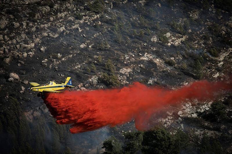 מטוסי כיבוי (צילום: Yonatan Sindel/Flash90)