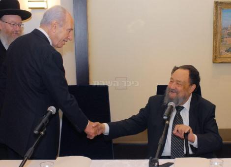 """פרס בפגישה עם הרב אברהם רביץ ז""""ל לבחירת מועמד להקמת ממשלה ב-2008"""