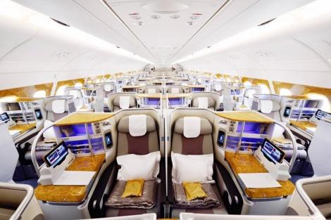 מחלקת העסקים באיירבוס 777 החדש (צילום: Emirates)