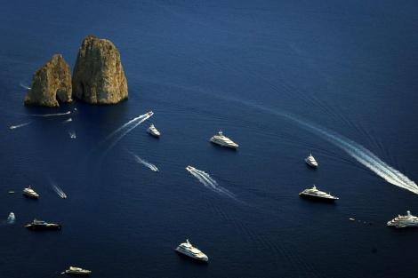 שיט ליד האי קאפרי, איטליה (צילום: שלומי כהן, פלאש 90)
