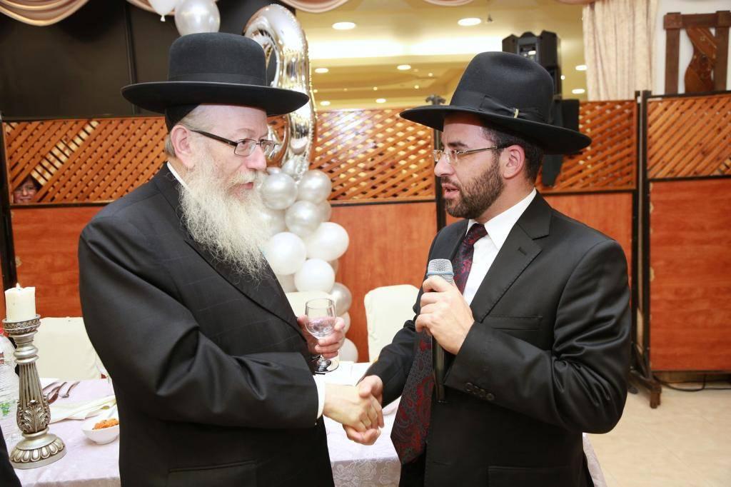 שר הבריאות יעקב ליצמן עם אבי מימרן