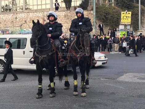 פרשים בירושלים (צילום: כיכר השבת)