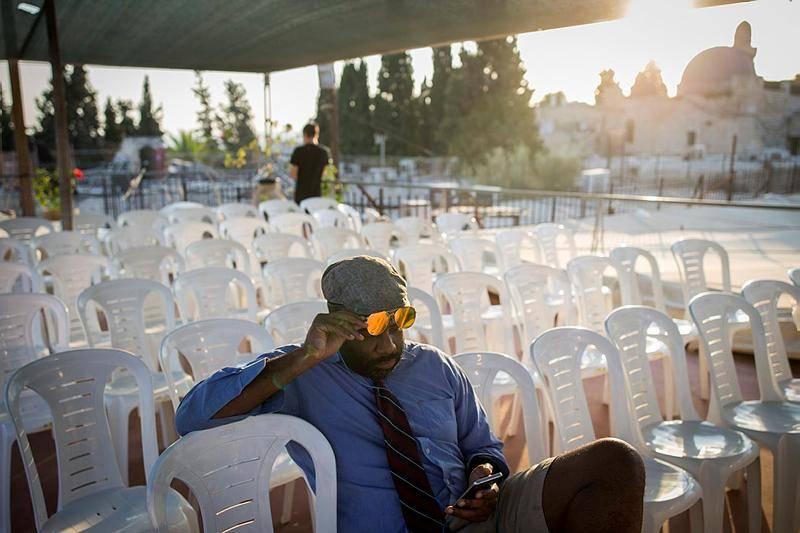 אירוע למען טראמפ בירושלים. היום (צילום: יונתן זינדל / פלאש 90)