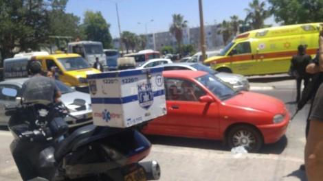"""הרכב בזירת האירוע (צילום: שמואל לסרי - דוברות זק""""א)"""