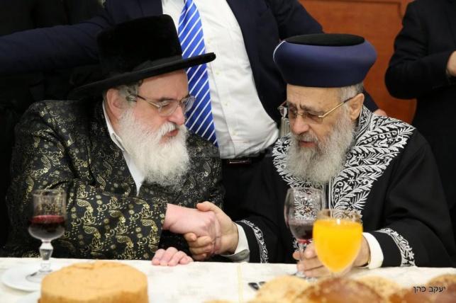 גלריה: מי חגג שבע ברכות עם הרב יצחק יוסף?