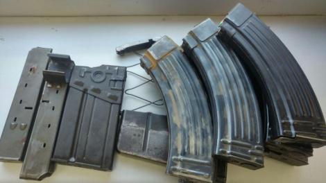 כלי הנשק שנמצאו (צילום: דוברות המשטרה)