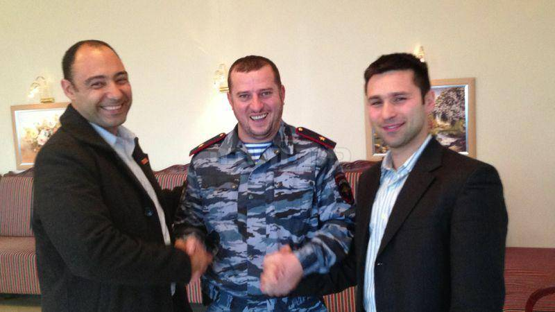אנשי הביטחון הישראלים בצוותא עם מפכ