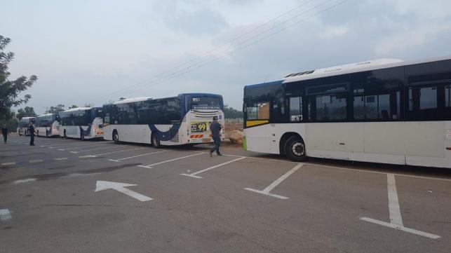 האוטובוסים שנלקחו לבדיקה