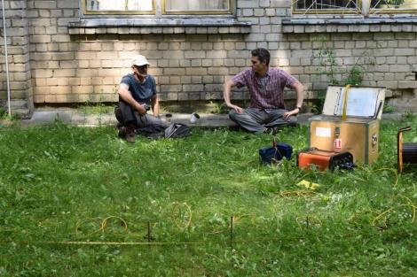העובדים בשטח  (צילום: ג'ון זליגמן, רשות העתיקות)
