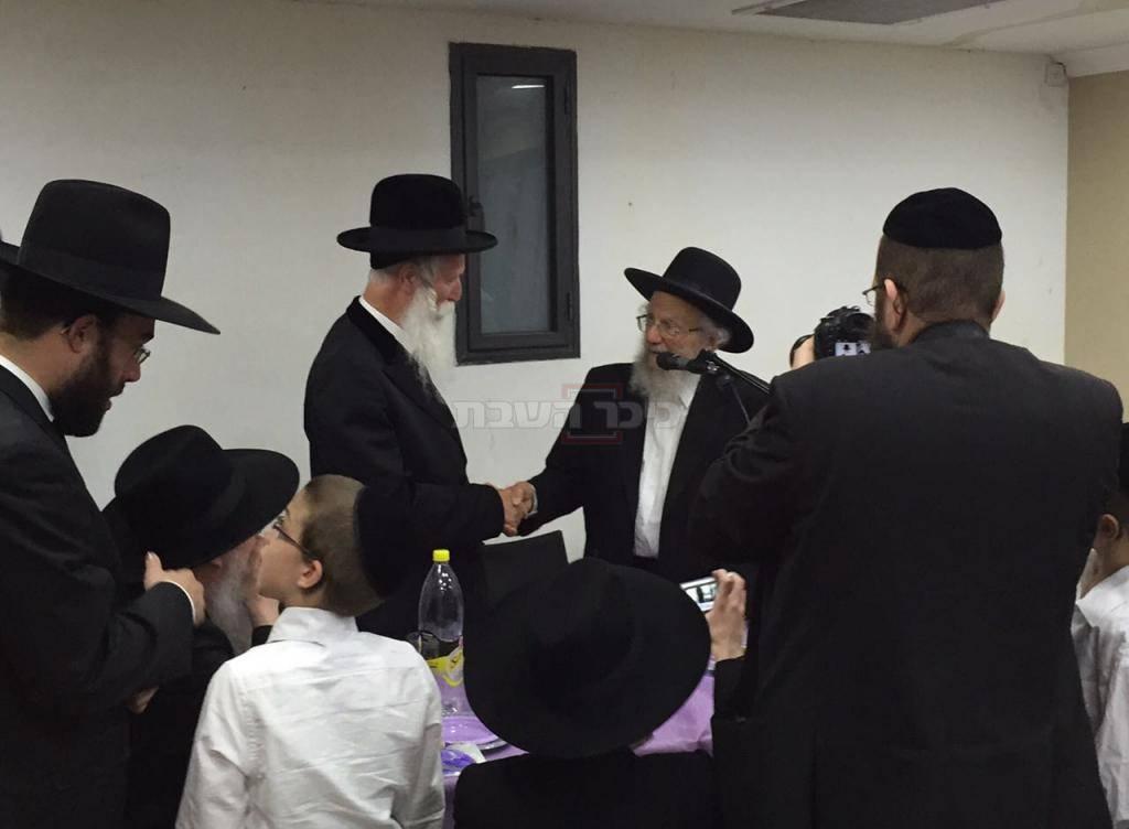 הגר''י זצ''ל עם הרב יצחק דוד גרוסמן