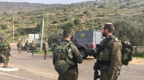 """כוחות צה""""ל בזירת הפיגוע (צילום: דובר צה""""ל)"""