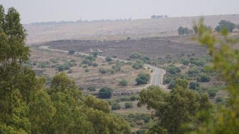 השטח הממוקש (צילום: דוברות משרד הביטחון)