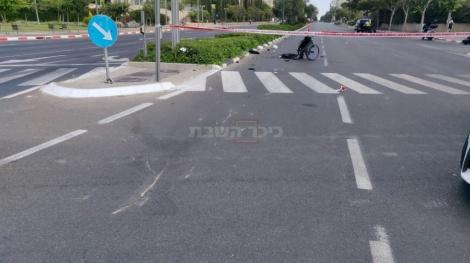 זירת התאונה, הבוקר (צילום: דוברות המשטרה)