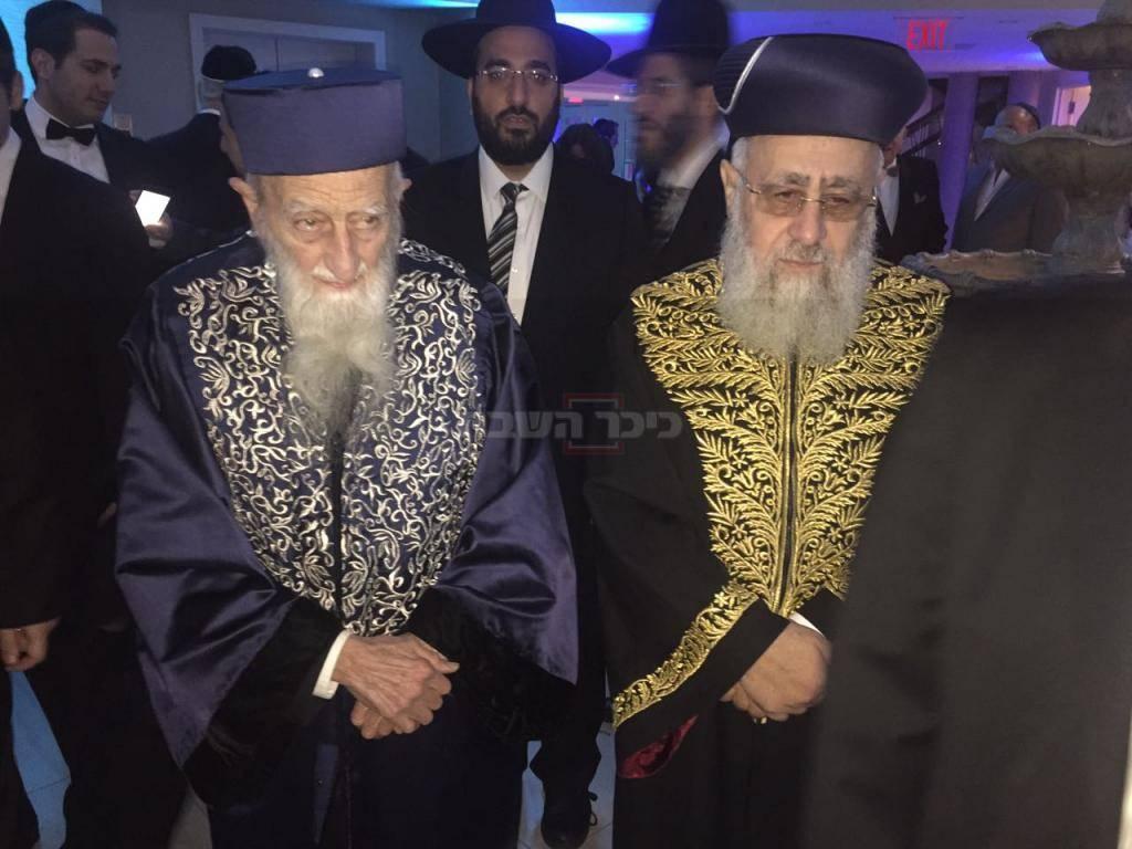 הגאון חכם שאול קצין עם הראשל''צ הגר''י יוסף, בחודש שעבר