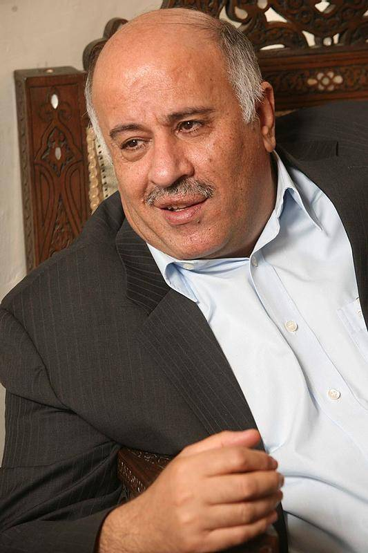 ג'יבריל רג'וב, בין המועמדים לתפקיד הסגן של אבו מאזן (צילום: Nati Shohat/Flash90)