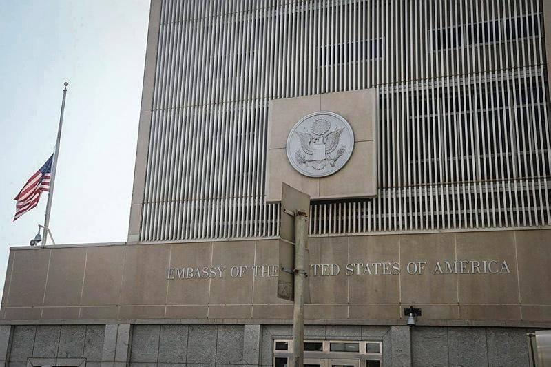 שגרירות ארה''ב בתל אביב. בקרוב בירושלים? (צילום: פלאש 90)