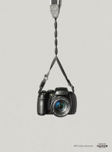 פרסומת למצלמה של Fujifilm המדגישה את יכולותיה הפנורמיות