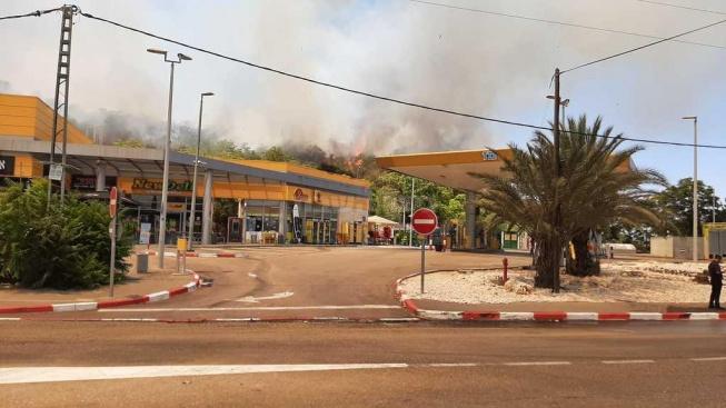שליטה חלקית הושגה באיזור תחנת הדלק