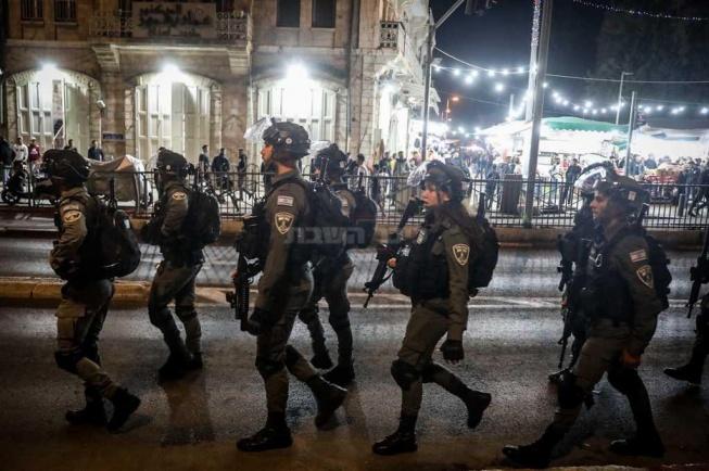 שוטרים באזור שער שכם, אמש