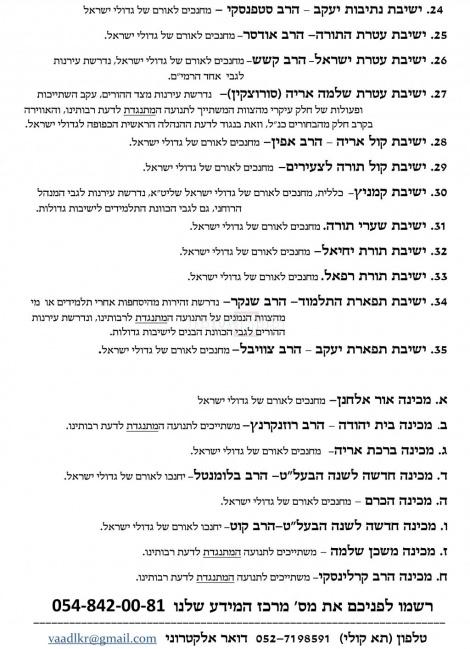 הרשימה השחורה של הוועד למען כבוד רבותינו