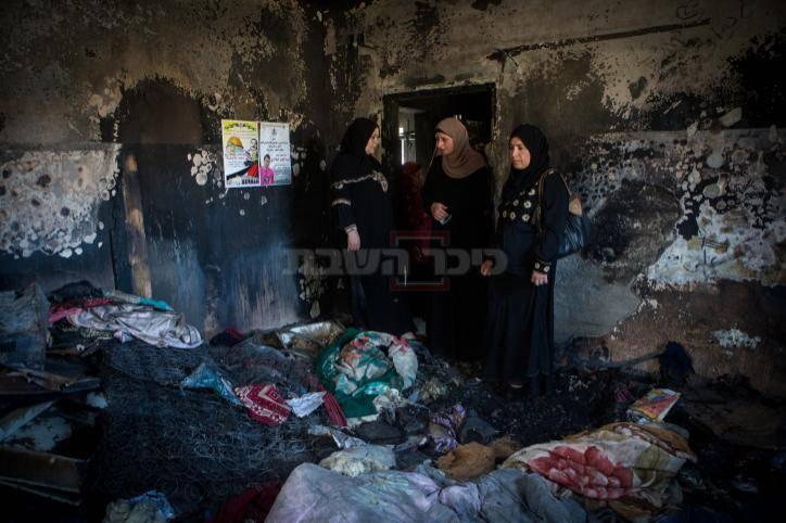 הבית השרוף (צילום: מרים אלסטר - פלאש90)