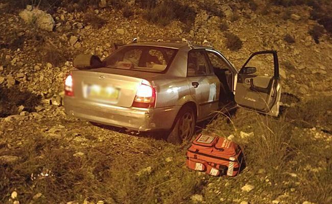 הרכב בו נסעו הפצועים (צילום: דוברות איחוד הצלה שומרון)
