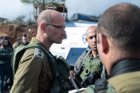 """פקד החטיבה המרחבית """"בנימין"""", אלוף-משנה שרון אסמן (צילום: דובר צה""""ל)"""