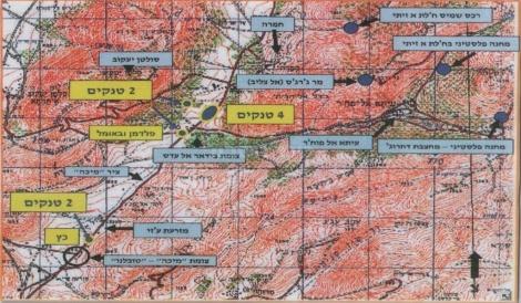 מפת הקרב הקשה בכפר סולטן יעקב