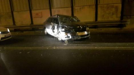 הרכב של המשגיח לאחר התאונה