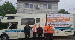 איחוד הצלה באומן וקייב. - איחוד הצלה: 100 איש טופלו בשבועות באוקראינה