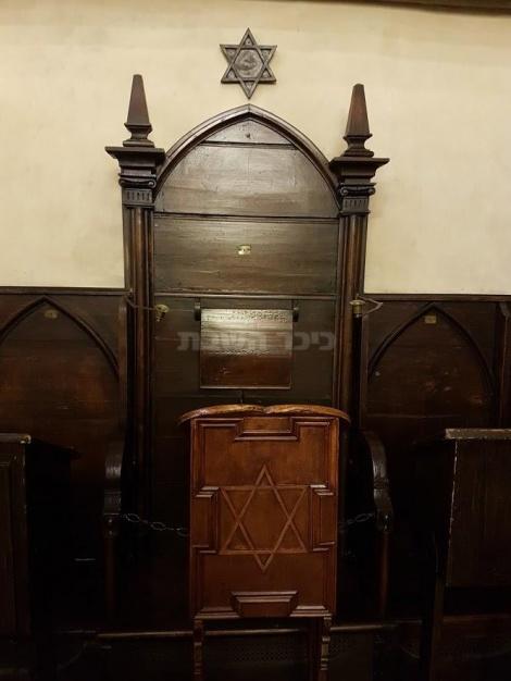 כיסאו של המהרל מפראג בבית הכנסת הישן חדש