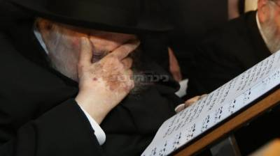 """מרן הגר""""ח קנייבסקי בכותל (צילום: חיים גולדברג, כיכר השבת)"""