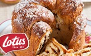 בבקה - עוגת שמרים במילוי לוטוס