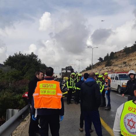 זירת התאונה (באדיבות המצלם)